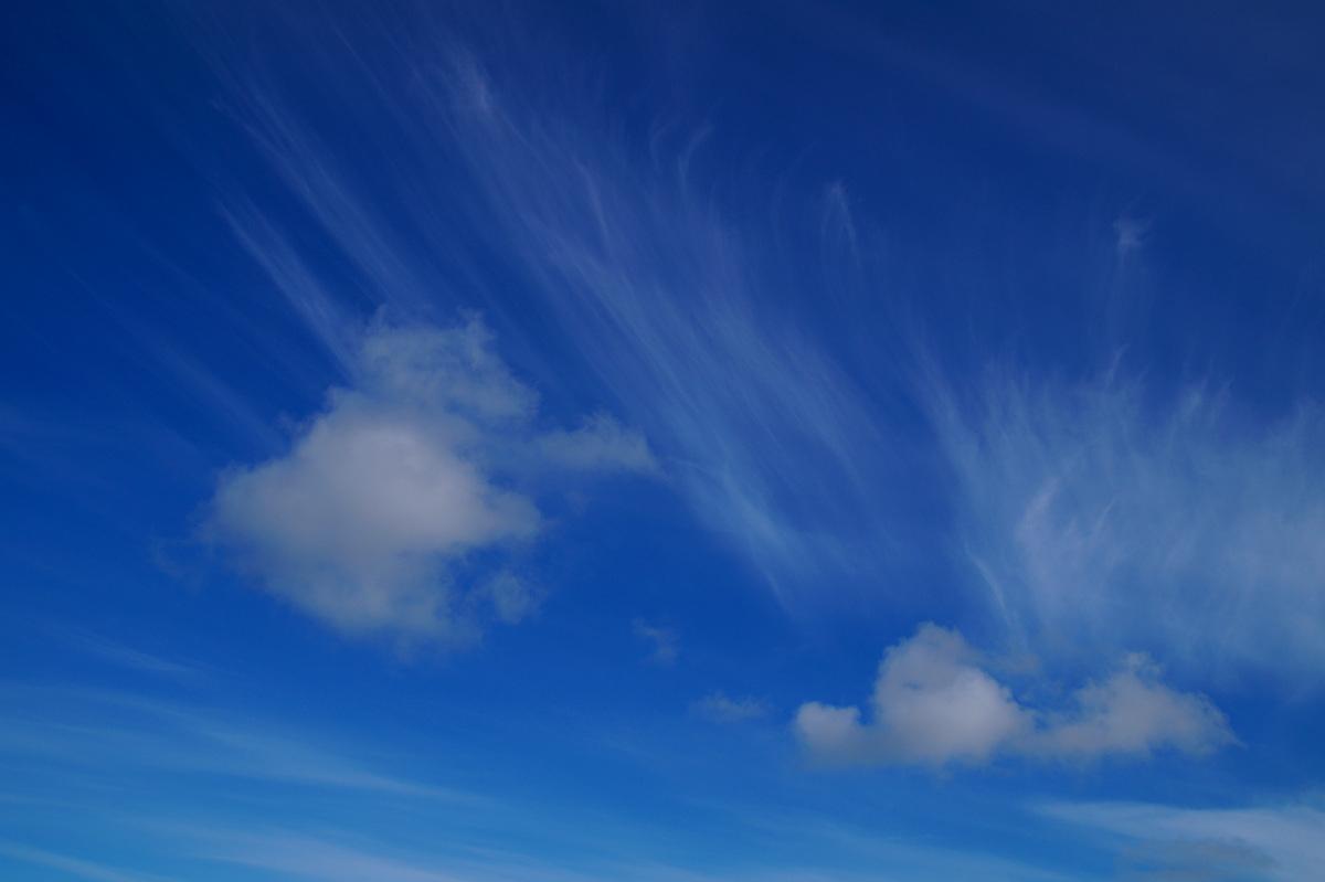 Blue sky at Omneberget