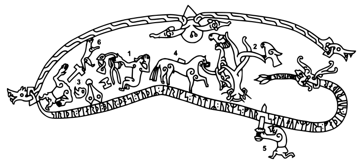 Drawing of the Sigurdsristning